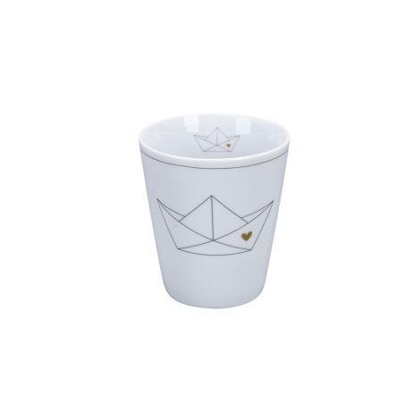 Krasilnikoff Becher Happy Mug Paperboat/ Heart