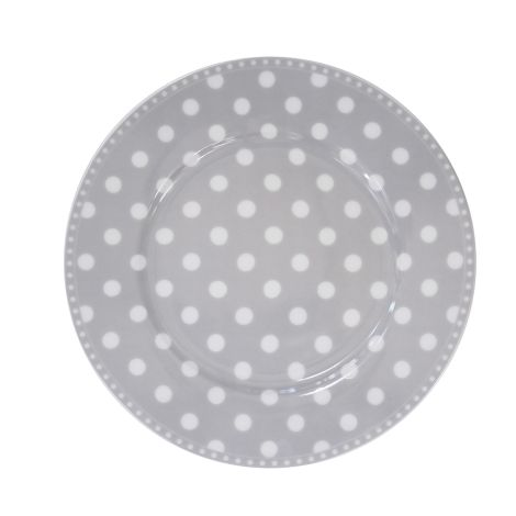 Krasilnikoff Teller Dots Grey