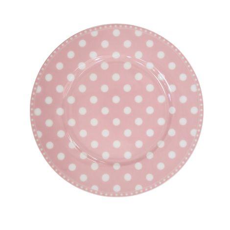 Krasilnikoff Teller Dots Pink