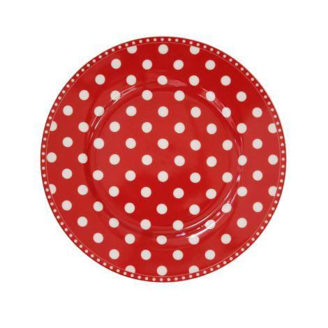 Krasilnikoff Teller Dots Red