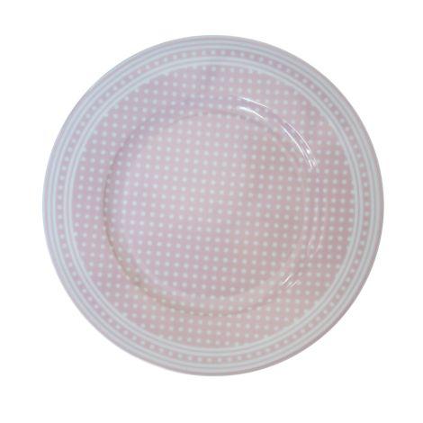 Krasilnikoff Teller Micro Dots Pink
