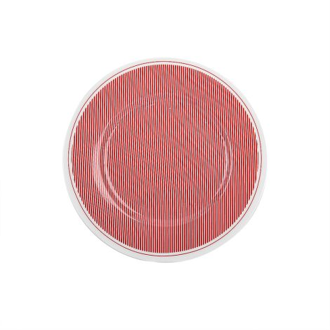 Krasilnikoff Teller Pinstripe Red 20 cm