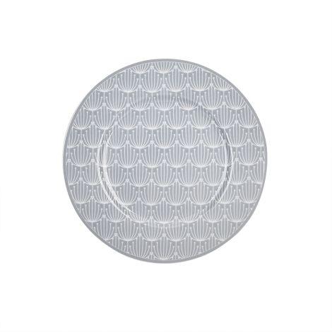 Krasilnikoff Teller Blossom Grey 20 cm