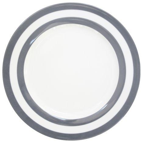 Krasilnikoff Speiseteller Stripes Charcoal