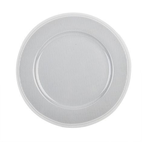Krasilnikoff Speiseteller Pinstripe Charcoal 26,5 cm