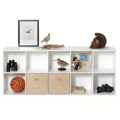 Oliver Furniture Wood Wand-Regal 5 x 2 Horizontal