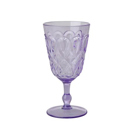 Rice Weinglas Acryl Lavender