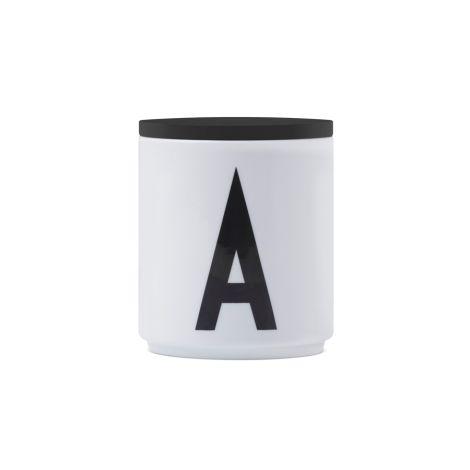 Design Letters Holz Deckel für Porzellan Becher Black