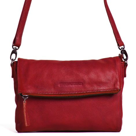Sticks and Stones Ledertasche Ipanema Red Washed