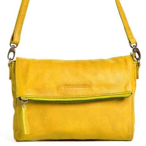Sticks and Stones Ledertasche Ipanema Yellow Washed