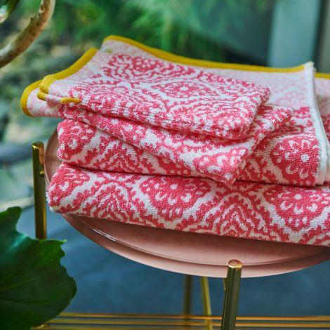 PIP Studio Handtücher Jacquard Check Dark Pink Waschhandschuh: 16 x 22 cm