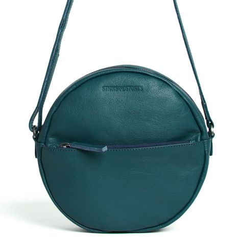 Sticks and Stones Ledertasche Juno Dusty Petrol Washed
