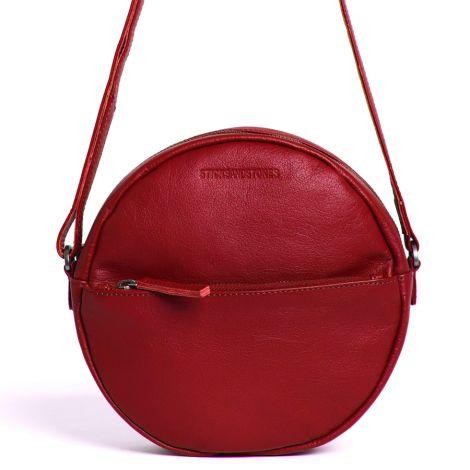 Sticks and Stones Ledertasche Juno Red Washed