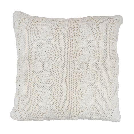 Krasilnikoff Kissenhülle Knitted Vanilla 50x50