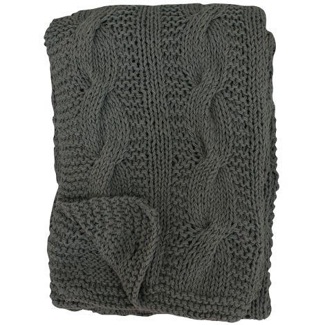 Krasilnikoff Tagesdecke Knitted Licorice 130x180 •