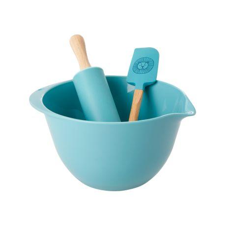 Rice Back-Set für Kinder Lion Head Blue 3-teilig