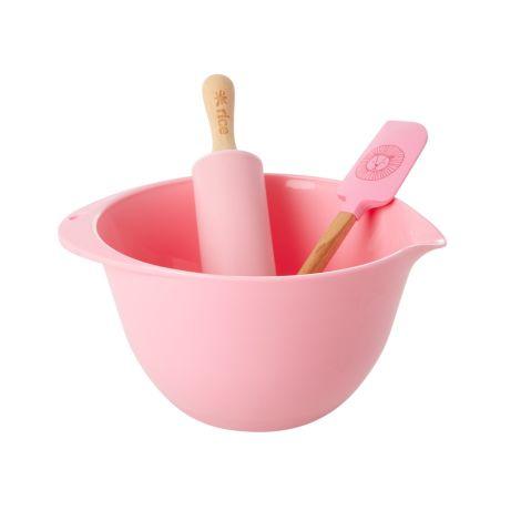 Rice Back-Set für Kinder Lion Head Pink 3-teilig