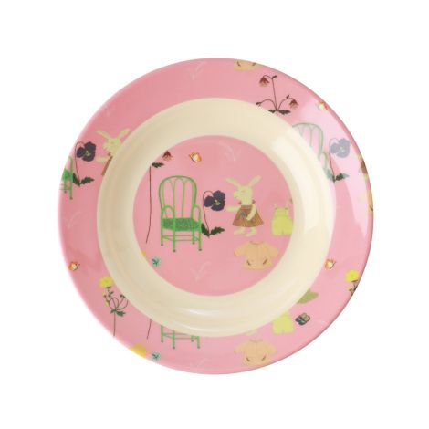 Rice Melamin Kinderschüssel Pink Bunny