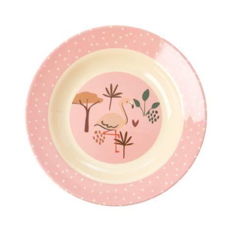 Rice Melamin Schüssel Kids Pink Jungle Animals