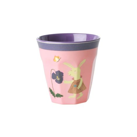 Rice Melamin Kinderbecher Pink Bunny