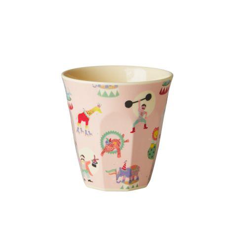 Rice Kinder Melamin-Tasse Circus Print Girl
