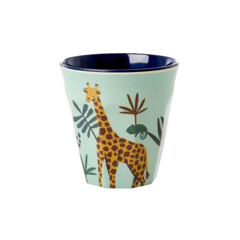 Rice Melamin Becher Blue Jungle Animal Klein