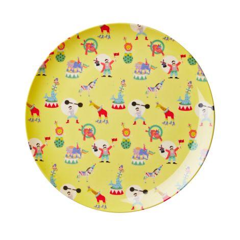 Rice Kinder Melamin-Teller Circus Print Boy