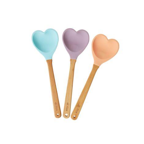 Rice Löffel Silikon Heart - verschiedene Farben