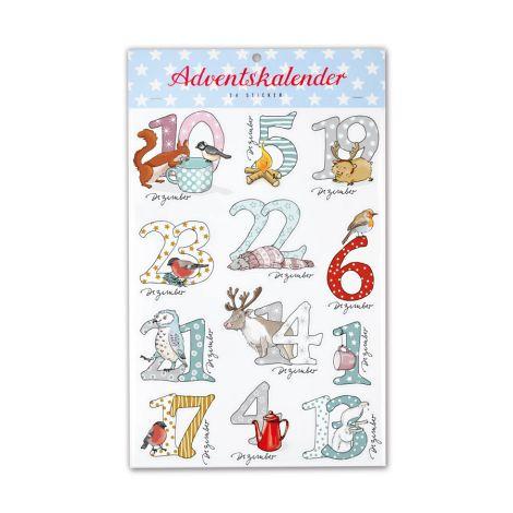 krima & isa Adventskalender Sticker  Schneetiere