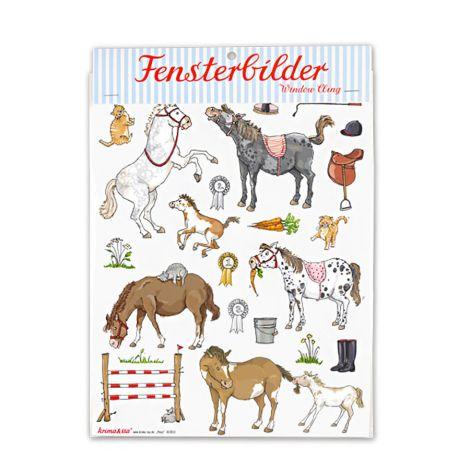 krima & isa Fensterbild Pony