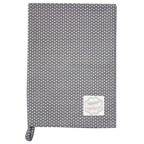 Krasilnikoff Geschirrtuch Charcoal Micro Dots