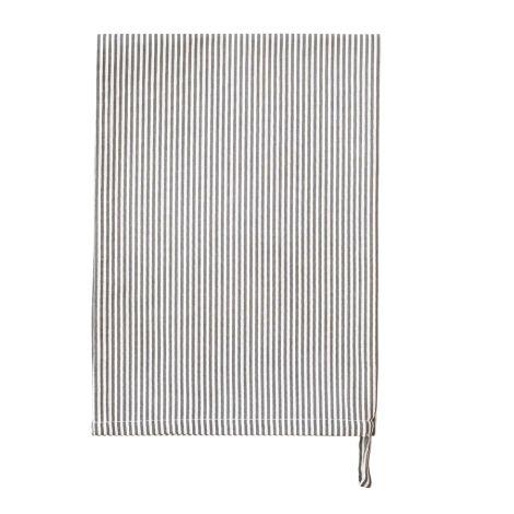 Krasilnikoff Geschirrtuch Pinstripe Charcoal
