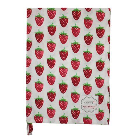 Krasilnikoff Geschirrtuch Strawberry White