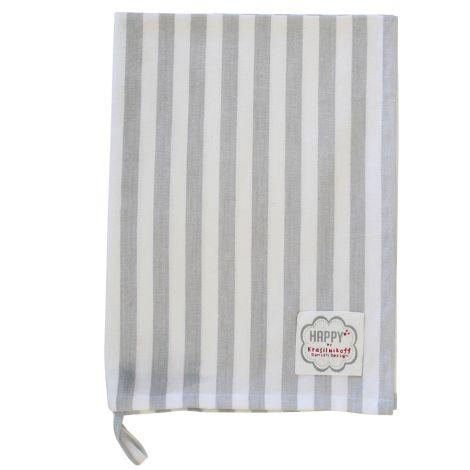 Krasilnikoff Geschirrtuch Grey Big Stripes