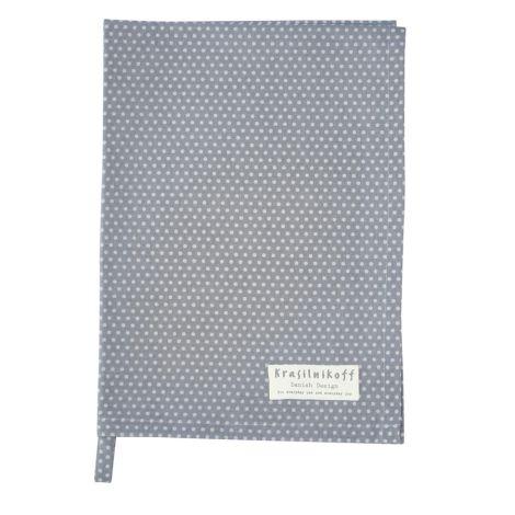 Krasilnikoff Geschirrtuch Micro Dots Dusty Blue