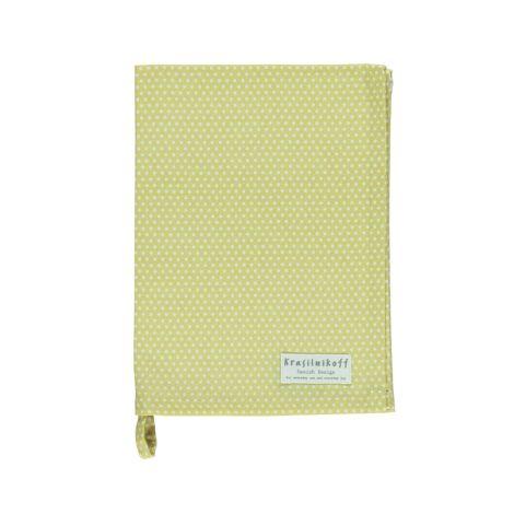 Krasilnikoff Geschirrtuch Micro Dots Dusty yellow