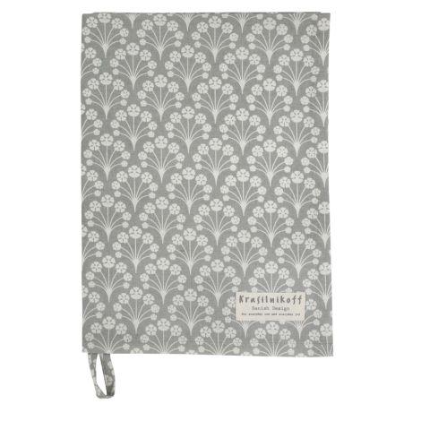 Krasilnikoff Geschirrtuch Bouquet Grey