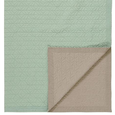 PIP Studio Tagesdecke Quilt Leaves Green