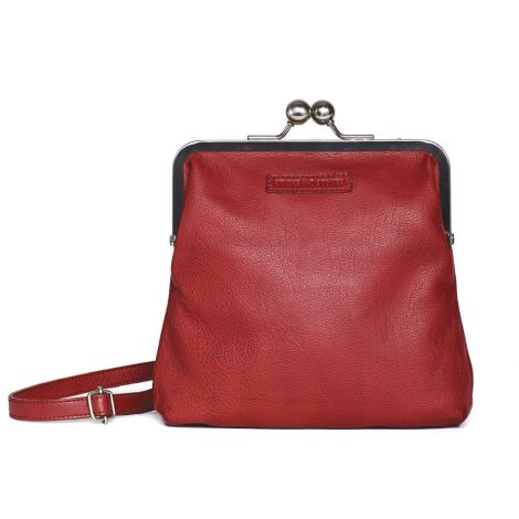 Sticks and Stones Ledertasche Le Marais Cherry Red Washed