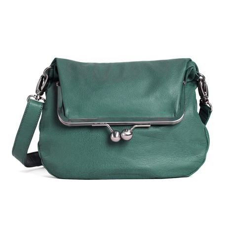 Sticks and Stones Ledertasche Lido Green Spruce Washed