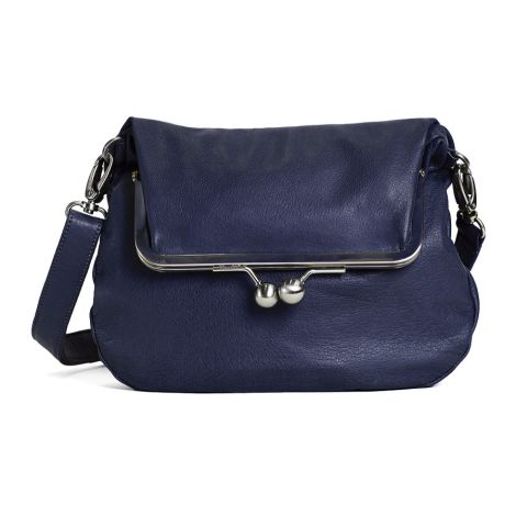 Sticks and Stones Ledertasche Lido Midnight Blue Washed