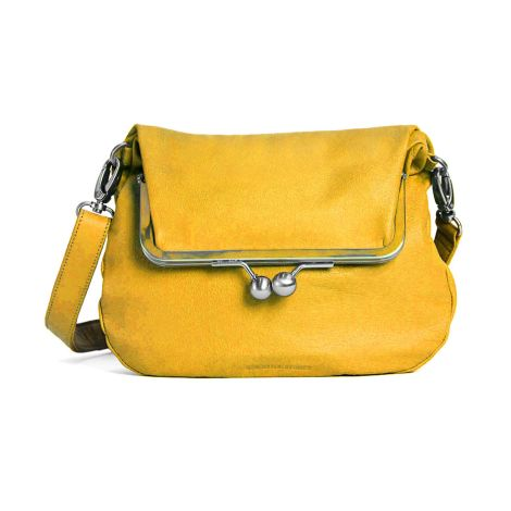 Sticks and Stones Ledertasche Lido Yellow Washed