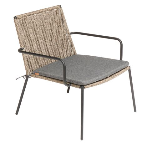 MUUBS Loungestuhl Riva Outdoor Walnut/Black