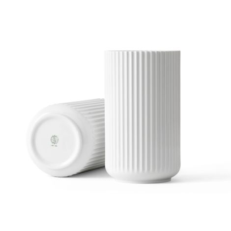 Lyngby Vase Weiß Porzellan 25 cm