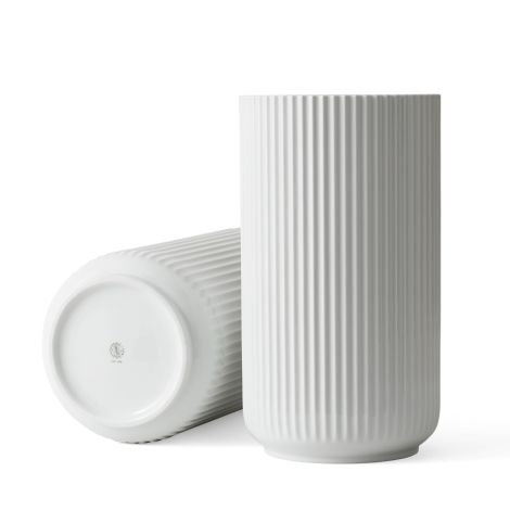 Lyngby Vase Weiß Porzellan 38 cm