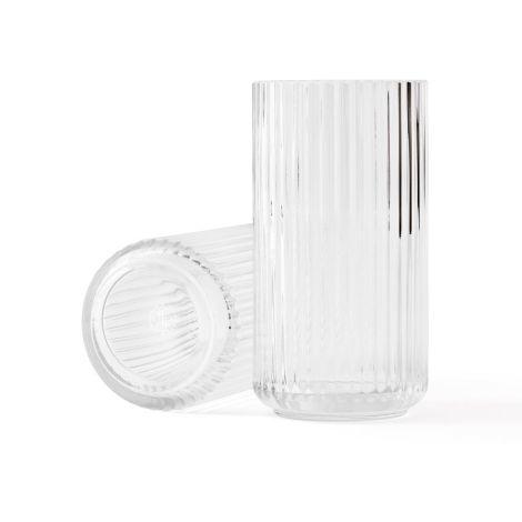Lyngby Vase Klar mundgeblasenes Glas 20,5 cm