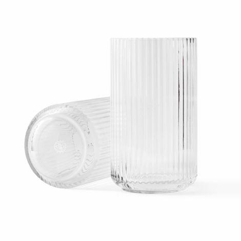 Lyngby Vase Klar mundgeblasenes Glas 38 cm