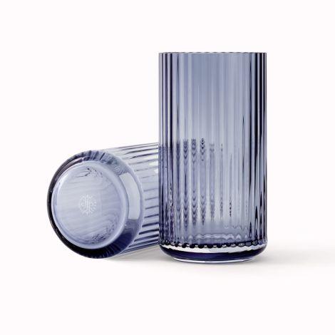 Lyngby Vase Midnight Blue mundgeblasenes Glas 20,5 cm