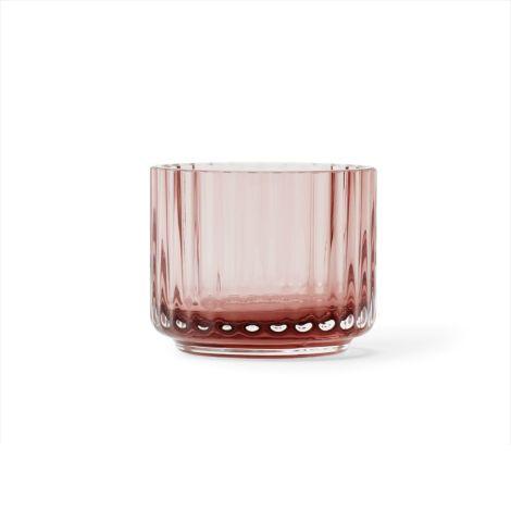 Lyngby Teelichthalter Burgundy mundgeblasenes Glas