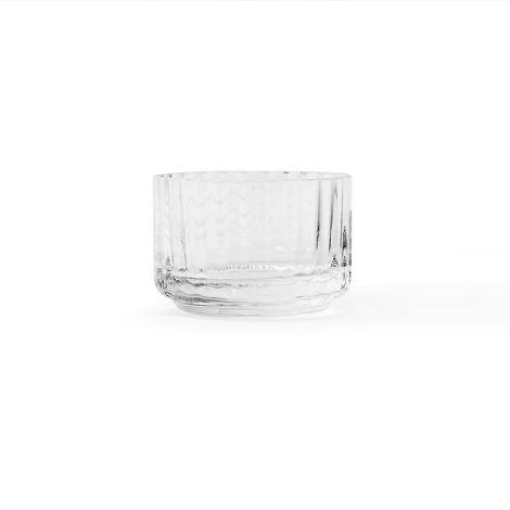 Lyngby Teelichthalter Klar mundgeblasenes Glas